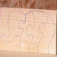 elephant puzzle à découper