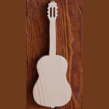 Guitare en bois ht20cm decoration interieur