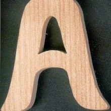 Lettre A en bois a peindre et a coller
