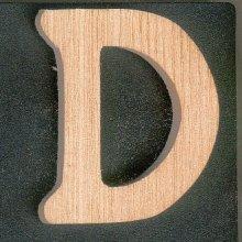 Lettre D en bois a peindre et a coller