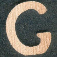 Lettre G en bois