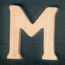 Lettre M en bois a peindre et a coller