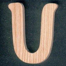 Lettre U en bois