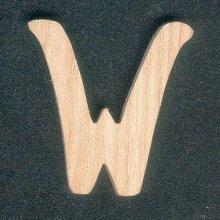 Lettre W en bois