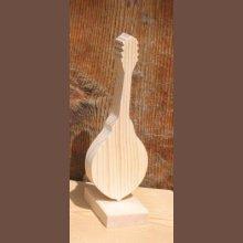 mandoline montée sur socle décoration instrument bois, fait main