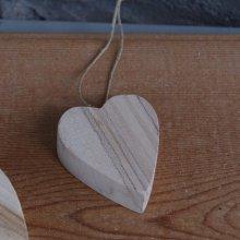 Petit coeur en bois de bouleau à suspendre saint valentin