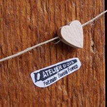 perle bois massif coeur H a decorer collier enfant loisirs créatifs