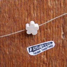 perle bois fleur a peindre collier enfant, guirlande