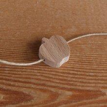 perle bois pomme H a decorer collier enfant