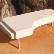piano a queue longueur 15 cm decoration mariage theme musique en bois