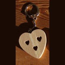 porte clef coeur et coeurs decoupés Saint Valentin