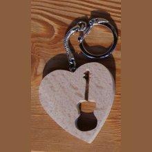 porte clef coeur et guitare