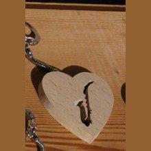 porte clef coeur et saxophone
