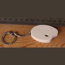 porte clef palette cadeau peintre fait main en bois d'erable ou de hetre