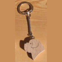 porte clef  tete de chien  Saint Bernard, golden retriever
