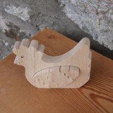 Poule avec oeuf puzzle en bois à peindre