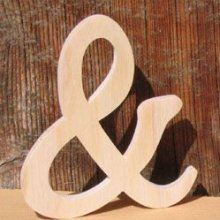 signe and 10 cm, esperluette en bois a coller