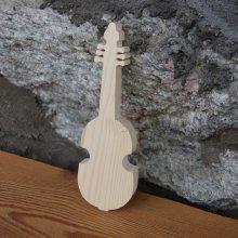 viole de Gambe en bois ht 20 cm deco theme musique