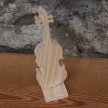 violon en bois hauteur 20cm decoration d'interieur, centre de table de fetes, failt main