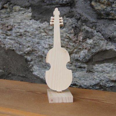 viole de Gambe montée sur socle, décoration de table