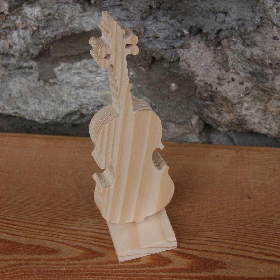 violon monté sur socle décoration mariage anniversaire en bois massif fait main cadeau violoniste